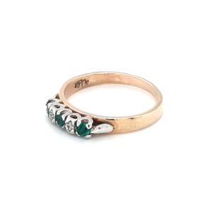 Leon Baker's 9K Yellow Gold Emerald and Diamond Ring_1