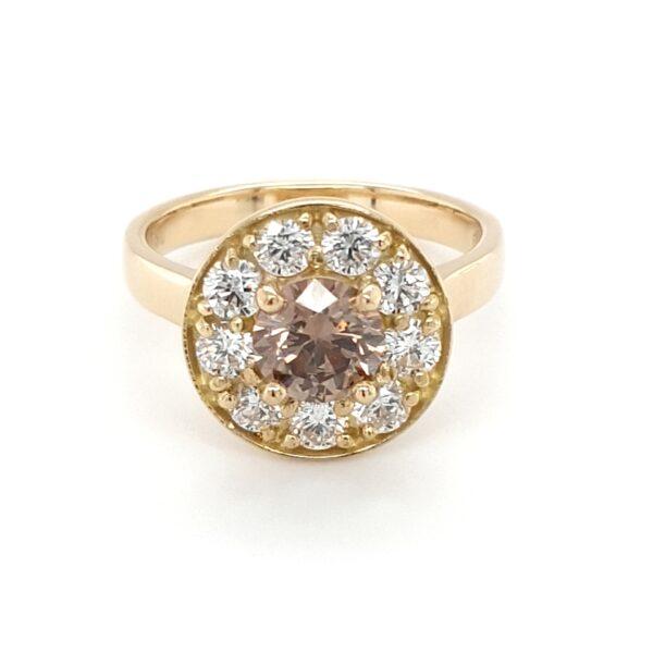 HANDMADE ARGYLE CHAMPAGNE DIAMOND RING_0