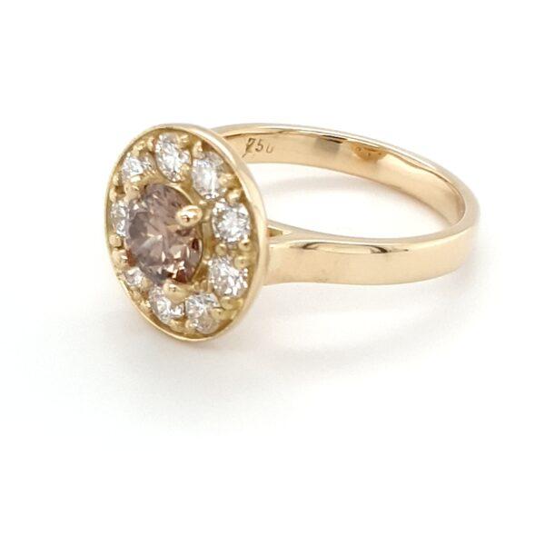HANDMADE ARGYLE CHAMPAGNE DIAMOND RING_1