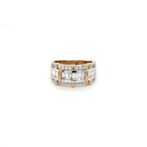 Leon Bakers 18K White and Yellow Gold Diamond Ring_0