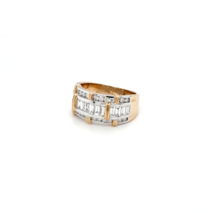Leon Bakers 18K White and Yellow Gold Diamond Ring_1