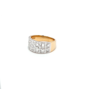 Leon Bakers 18K White and Yellow Gold Diamond Dress Ring_1