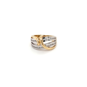 Leon Bakers 18K Yellow and White Gold Diamond Dress Ring_0