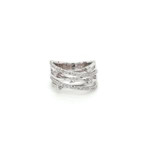Leon Bakers 18K White Gold and Diamond Dress Ring_0