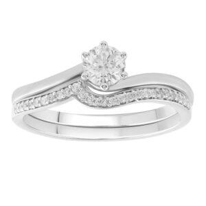 Royal Diamond 9k White Gold Diamond Bridal Set_0