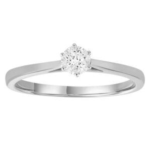 Royal Diamond 9K White Gold Solitare Ring_0