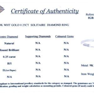 Royal Diamond 9K White Gold Solitare Ring_1