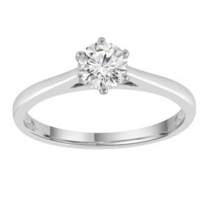 Royal Diamond White Gold Solitare Engagement Ring_0