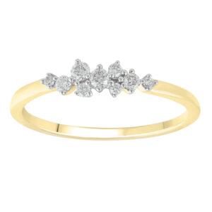 Royal Diamond 9K Yellow Gold Diamond Ring_0