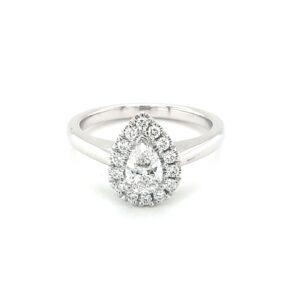 Leon Baker's 18K White Gold Diamond Engagement Ring_0