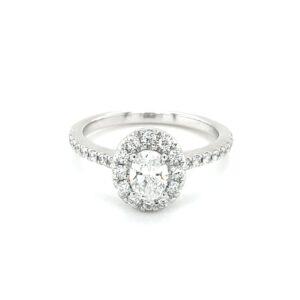 Leon Baker 18K White Gold Diamond Engagement Ring_0