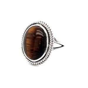 Leon Baker Stirling Silver Tiger Eye Ring_1