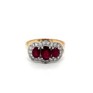 Leon Bakers 18K Yellow Gold Oval Ruby Ring_0