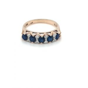 Leon Baker 9K Yellow Gold Diamond and Blue Sapphire Ring_0