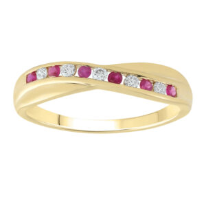 Royal Diamond 9K Yellow Gold and Ruby Ring_0