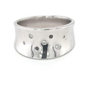 Leon Bakers Platinum Ladies Diamond Wide Ring_0