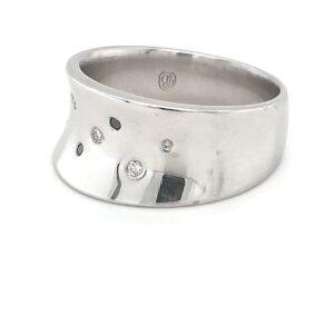 Leon Bakers Platinum Ladies Diamond Wide Ring_1