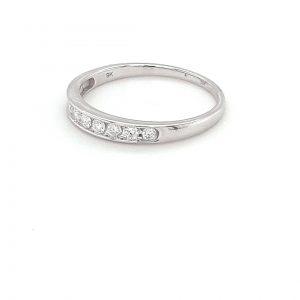 Royal Diamond 9K White Gold Diamond Ring_1