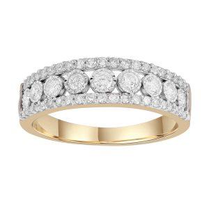 Royal Diamond 8K Yellow Gold Diamond Ring_0