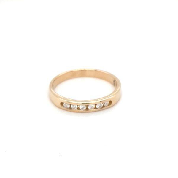 Leon Baker Channel Set Round Brilliant Diamonds Wedding Ring_0