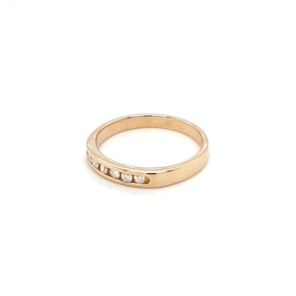 Leon Baker Channel Set Round Brilliant Diamonds Wedding Ring_1