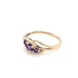 Leon Baker's 9K Yellow Gold Amethyst Ring_1