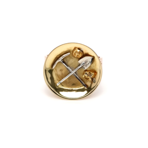 Leon Bakers 18K and 9K Tri-Tone Pick and Axe Ring_0