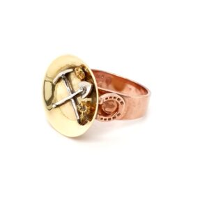 Leon Bakers 18K and 9K Tri-Tone Pick and Axe Ring_1