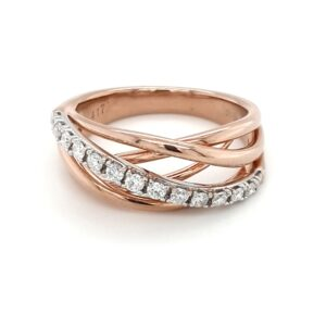 Leon Bakers Rose Gold Wire Style Diamond Ring_0