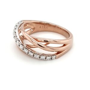 Leon Bakers Rose Gold Wire Style Diamond Ring_1