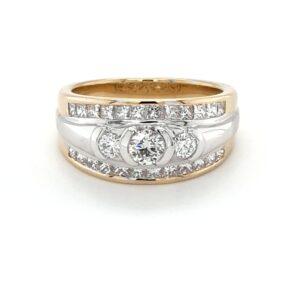 Leon Bakers 18K Two-Toned Big Diamond Ring_0