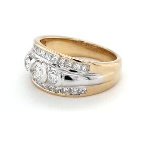 Leon Bakers 18K Two-Toned Big Diamond Ring_1