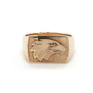 Leon Bakers Handmade Solid Gold Eagle Ring_0