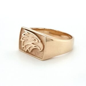 Leon Bakers Handmade Solid Gold Eagle Ring_1