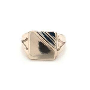 Leon Bakers Handmade Mens Signet Ring_0