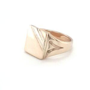 Leon Bakers Handmade Mens Signet Ring_1
