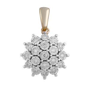 Royal Diamond Flower and Diamond Pendant_0