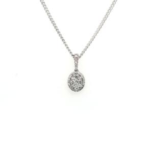 Leon Bakers 9K White Gold Diamond Pendant_0