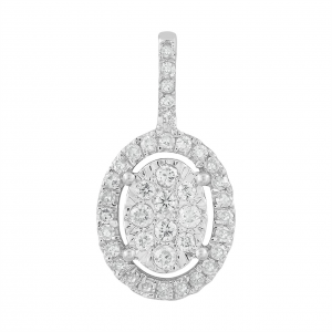 Royal Diamond Large Oval Diamond Pendant_0