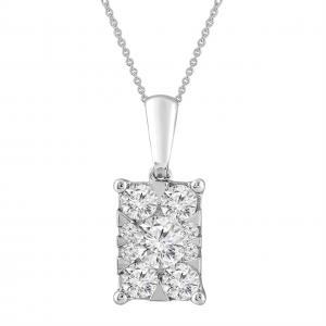 Royal Diamond White Gold Diamond Pendant_0