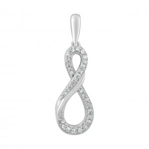Royal Diamond Infinity Symbol Diamond Pendant_0