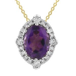 Royal Diamond Amethyst and Diamond Pendant_0
