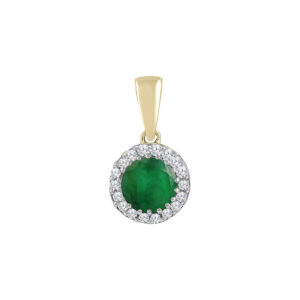 Royal Diamond Emerald and Diamond Pendant_0