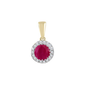 Royal Diamond Ruby and Diamond Pendant_0