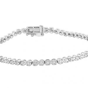 Royal Diamond 9K White Gold Diamond Bracelet_0