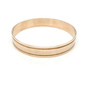 Leon Bakers 9K Yellow Gold Solid Bangle_0