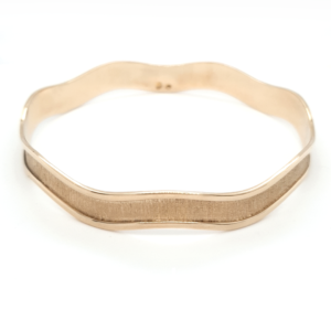 Leon Bakers 9K Yellow Gold Wide Molten Bangle_0