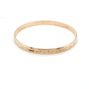 Leon Baker 9K Yellow Gold Faceted Bangle_0