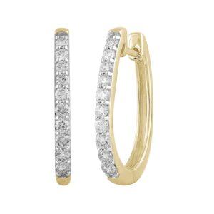Royal Diamond 9K Yellow Gold Diamond Huggies_0