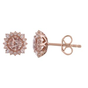 Royal Diamond 9K Rose Gold Earrings_0